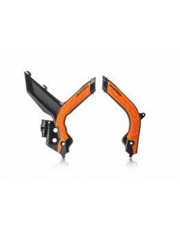 Chrániče rámu Acerbis X-grip KTM SX/SXF/XCF 19-20 čierno/oranžové