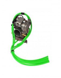 Hadičky karburátora neónovo zelené 5KS