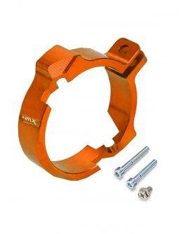 Chránič výfukovej príruby KTM EXC 250/300,Husqvarna TE 250/300,oranžový