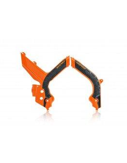 Chrániče rámu Acerbis X-grip KTM SX/SXF/XCF 19-20 oranžovo-čierne