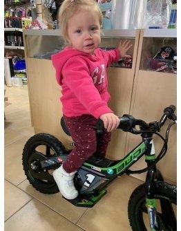 "Detský elektro bicykel Bud racing push 14"" zelený"