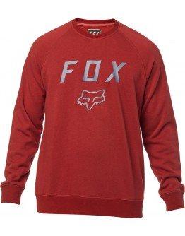 Pánska mikina Fox Legacy Crew bordeaux
