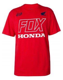 Pánske tričko Fox Honda Ss Tech dark red