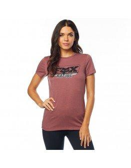 Dámske tričko Fox Retro Ss Crew rose