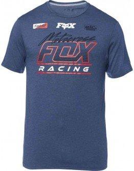 Pánske tričko Fox Jetskee Ss Tech Heather Deep cobalt