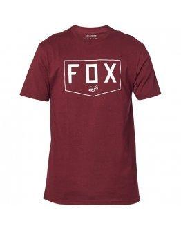 Pánske tričko Fox Shield SS Premium cranberry