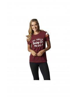 Dámske tričko Fox Thrills N Spills cranberry