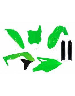 Sada plastov KXF 450 2016-2018 + kryty tlmičov neonovo zelená