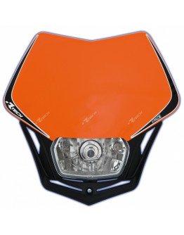Maska so svetlom UNI oranžovo-čierna
