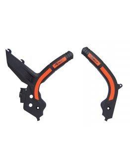 Chrániče rámu Rtech KTM SX/SX-F/XC-F 19-20, EXC/EXC-F 2020 oranžovo-čierne
