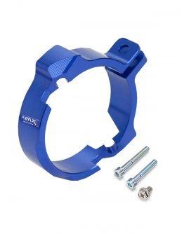 Chránič výfukovej príruby KTM EXC 250/300,Husqvarna TE 250/300,modrý