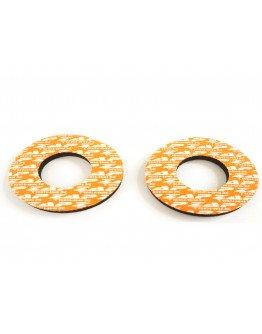 Zap grip donuts penové krúžky na gripy oranžové