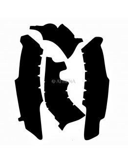 Chránič rámu Vibram YZF 250 2014-2018, YZF 450 2014-2017 čierny