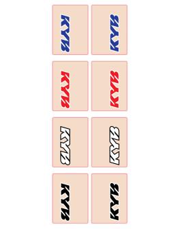 Nálepky na predné tlmiče KYB červené