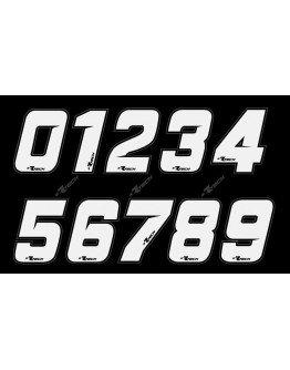 Štartovné číslo R-tech (nálepka) biele