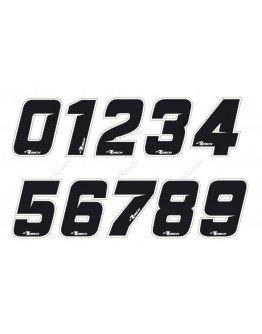 Štartovné číslo R-tech (nálepka) čierne