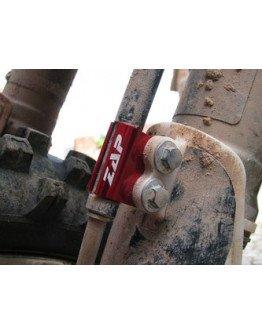 Držiak(svorka) brzdovej hadice Zap Technix CR(F),YZ(F) 05-červený